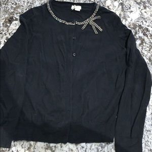 kate spade Sweaters - kate spade black button up sweater